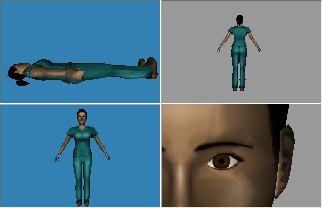 3d female nurse model
