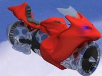 futuristic jet bike 3d model