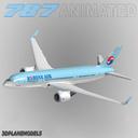 Boeing 787-3 3D models