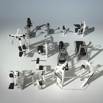 3d 12 precor fitness equipment model