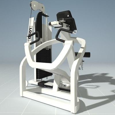 3ds max exercise row machine precor