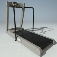 3d model treadmill precor