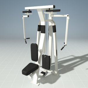 3d model seated butterfly precor 505ks