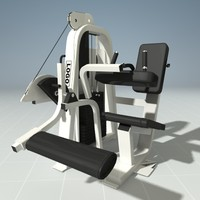 PRECOR 619KS Leg Curl Machine