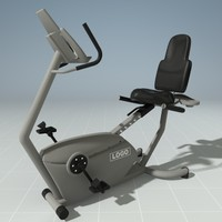 3d model recumbent bike precor