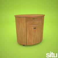 designer bedside table 3ds