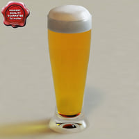 3d model beer glass v1