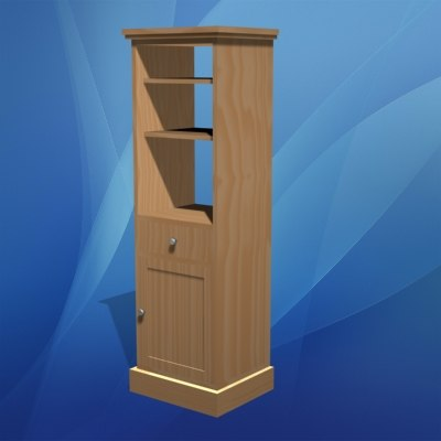 3d bookcase storage house model