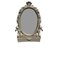 3d boudoir mirror model