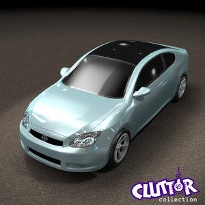 3d 2007 scion tc car