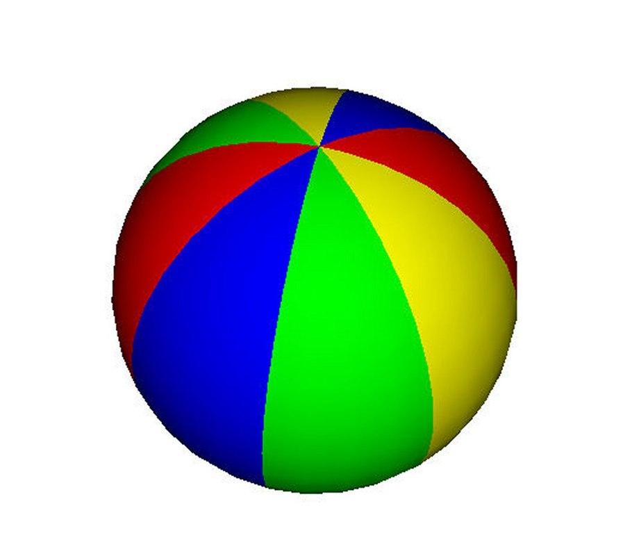 3d beach ball