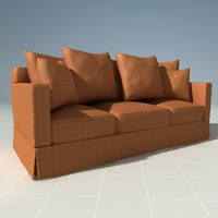 3dsmax henredon corduroy couch