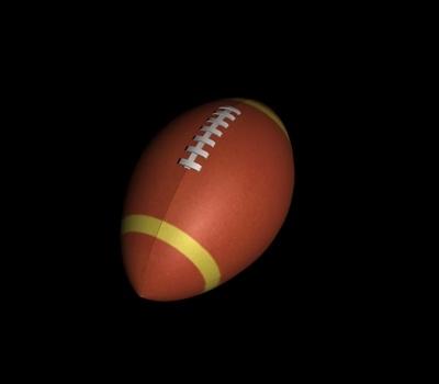 3d model foot ball football