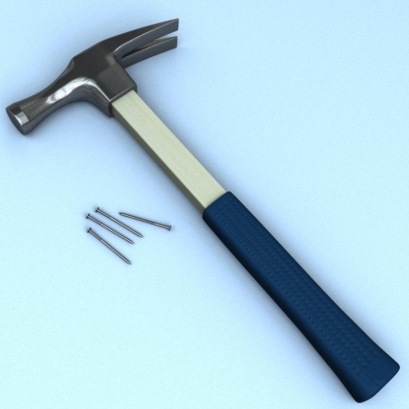 hammer fiberglass steel 3d model