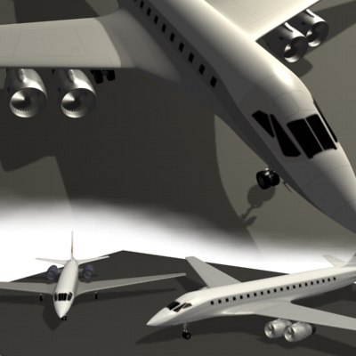3d model airplane jet
