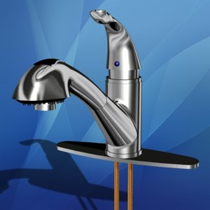single handle kitchen faucet 3d 3ds
