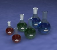 Lab Glassware 3 - Round Bottom Flasks 100mL 250mL and 500mL