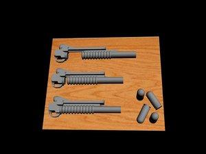 m203 grenade launchers max