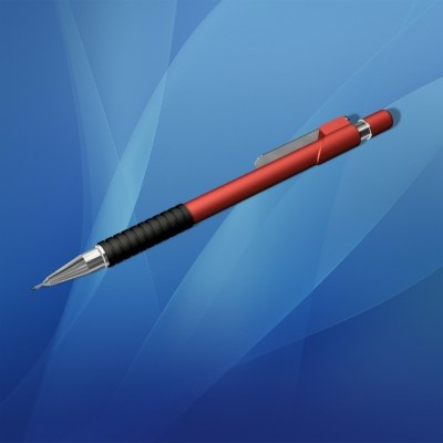 3ds max mechanical pencil