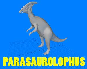parasaurolophus dinosaur 3d obj