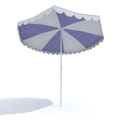 3d model umbrella sun parasol