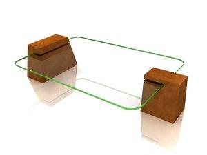 table modern 3d 3ds