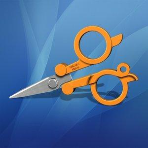 pocket scissors 3d max