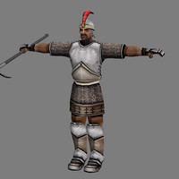 3d model armoured - human male
