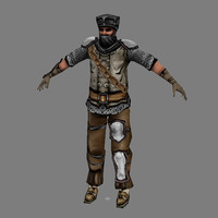 man fantasy - male 3d model