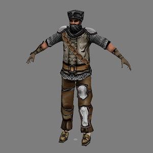 man fantasy - male 3d model