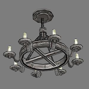3ds max candelabras - furniture lights