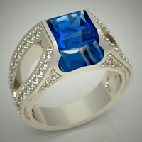 Ring with square topaz.