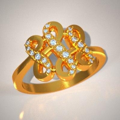 diamonds jewellery stl 3d model