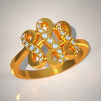 diamonds jewellery stl 3d model
