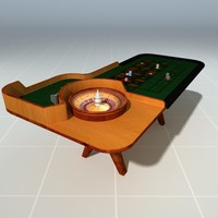 3d model of roulette table casino