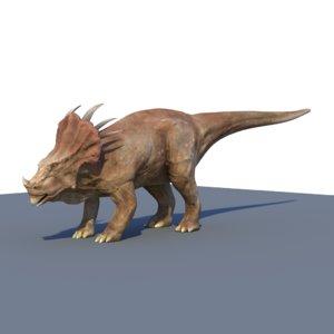 styracosaurus dinosaur details 3d model