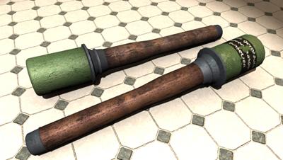free stick grenade tile 3d model
