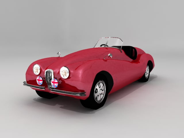 1953 convertible 3d model