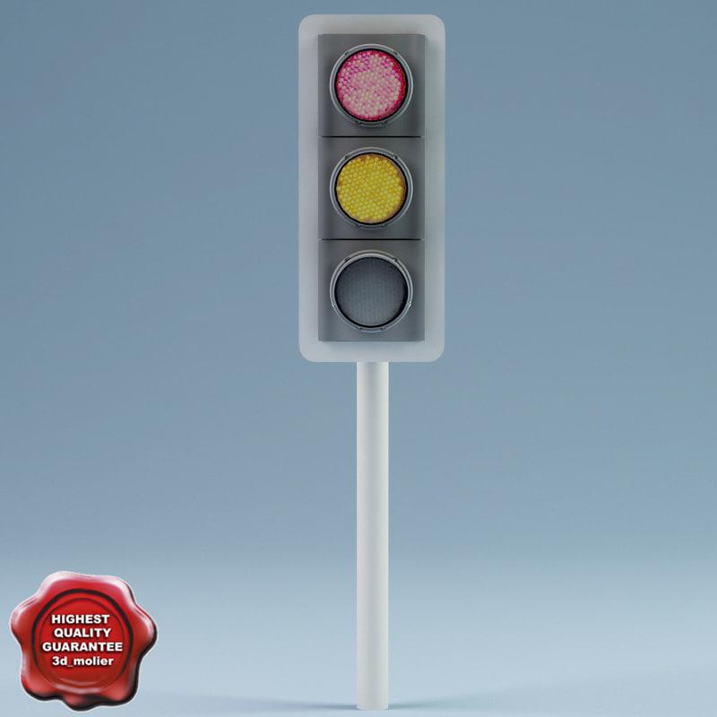 traffic lights v3 3d model