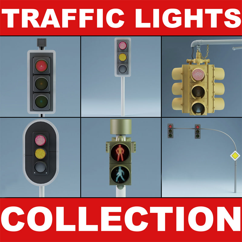 3ds max traffic lights