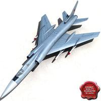3dsmax tupolev tu-128 fiddler fighter