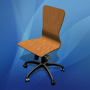 lwo wooden office chair wood