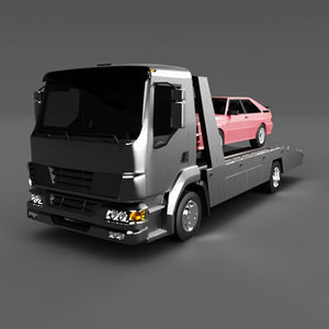 flatbed truck car 3d 3ds