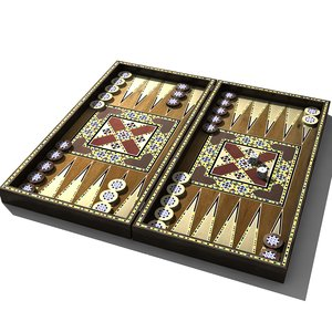 3ds max oriental backgammon