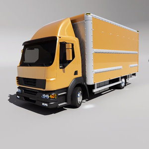 3d model delivery truck