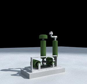 3d industrial positive displacement blower