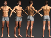 3d daniel male rigged