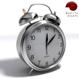 3d classic alarm clock model