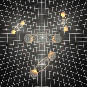 3d model space electron - positron