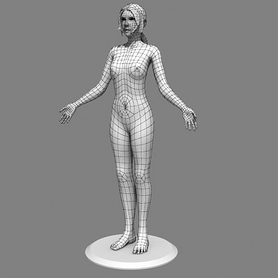 3d model female human